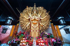 Statue of the Thousand Hands Guanyin Stock Photos