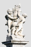 Statue of the three angels near leaning tower of Pisa, Italy Royalty Free Stock Photos
