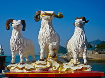 Statue of three celestial rams Royalty Free Stock Photography