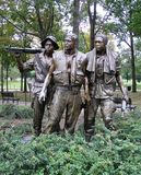 USA, Washington DC. Monument `Three Soldiers` in memory of the Vietnam War royalty free stock image
