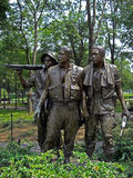 Statue of the three soldiers at the Vietnam Veterans Memorial in Washington D.C., 2008. Statue of the three soldiers at the Vietnam Veterans Memorial in Royalty Free Stock Photos