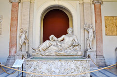Statue of the Tigris in Vatican. Rome Royalty Free Stock Photos
