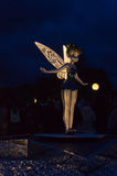 Statue of tinkerbell. At night Stock Images