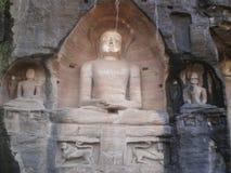 Statue tirthankar Jain a Gwalior Immagine Stock Libera da Diritti