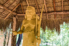 Statue of Tisahamy Aththo in Sri Lanka. Stone statue of famous chief of Vedda tribe in Sri Lanka Stock Image