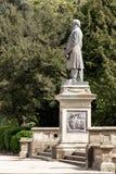 Statue of Titus Salt in Roberts Park, Saltaire stock images