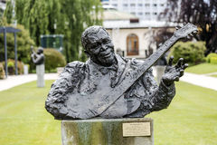 Statue to B. B. King called King of blues Stock Photography