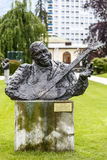 Statue to B.B. King in Montreux Stock Photos