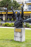 Statue to Carlos Santana in Montreux Stock Image