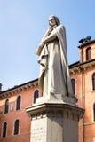 Statue to Dante Alighieri in Piazza dei Signori - Verona Stock Images