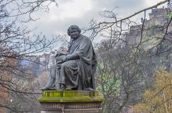 Statue to James Y Simpson in Princes Street Gardens in Edinburgh Scotland Stock Images
