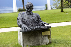 Statue to Ray Charles in Montreux Royalty Free Stock Photography