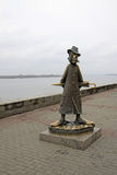 Statue to russian writer Anton Chekhov in Tomsk, Russia Royalty Free Stock Image