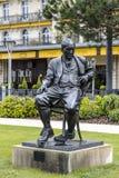 Statue to Vladimir Nabokov in Montreux Stock Image