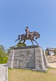 Statue of Todo Takatora in Imabari Castle, Japan Royalty Free Stock Image
