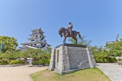 Statue of Todo Takatora in Imabari Castle, Japan Royalty Free Stock Photo