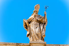 Statue at the top of Basilica of Saint John Lateran in Rome, Ita Royalty Free Stock Photos