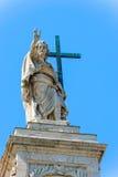 Statue at the top of Basilica of Saint John Lateran in Rome, Ita Stock Photo