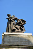 Statue on top of the Carnegie Music Hall Royalty Free Stock Photography