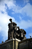 Statue on top of the Carnegie Music Hall Stock Photo