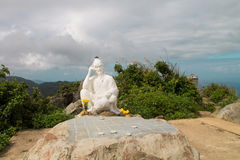 Statue on top of the hill Royalty Free Stock Photography