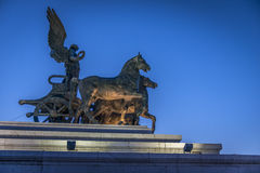 Statue at top of Vittorio Emanuele II Royalty Free Stock Photography