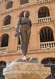 Statue Toreador Manolo Montoliu, Plaza De Toros, Valencia Stock Photos