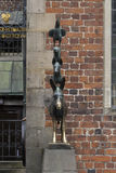 The Statue of Town Musicians in Bremen Royalty Free Stock Photos