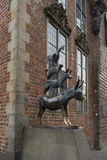 The Statue of Town Musicians in Bremen Stock Image