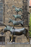 The Statue of Town Musicians in Bremen Stock Photos