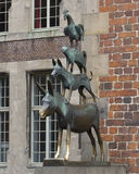 The Statue of Town Musicians in Bremen Stock Photo