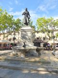 Statue in town square Royalty Free Stock Photo