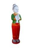 Statue-traditioneller siamesischer Gruß Lizenzfreies Stockfoto