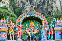 Statue tradizionali di Dio indù immagine stock libera da diritti