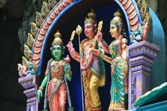 Statue tradizionali di Dio indù in caverna di Batu, Kuala Lumpur, Malesia immagini stock