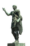 Statue of Trajan, the Roman emperor. Statue of the Roman emperor Trajan, isolated on white background Royalty Free Stock Image