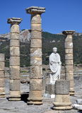Statue of Trajan in the ruins of Baelo Claudia Royalty Free Stock Photo