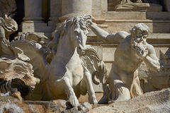 Statue of the Trevi Fountain in Rome Italy Stock Images