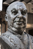 Statue in tribute to the great cook Candido Lopez Sanz, renowned Stock Images