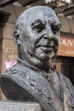 Statue in tribute to the great cook Candido Lopez Sanz, renowned Stock Image