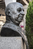 Statue in tribute to the great cook Candido Lopez Sanz, renowned Stock Photos
