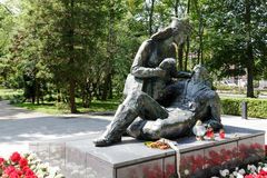 Statue in tribute to the Polish female soldiers Stock Images