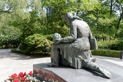Statue in tribute to the Polish female soldiers Royalty Free Stock Photo