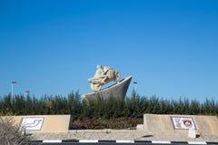 Statue tribute to Ricardo Tormo, Spanish motorcycle pilot Stock Photo