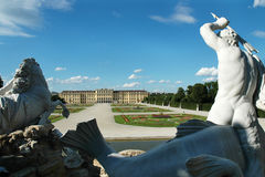 Statue of Triton in the garden at Schonbrunn Royalty Free Stock Image