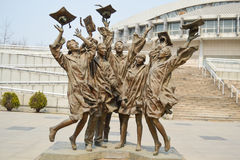 Statue at Tsinghua University Stock Photography
