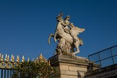 Statue in Tuileries Garden, Paris royalty free stock image
