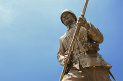 Statue of a Turkish Soldier, Canakkale, Turkey Royalty Free Stock Photography