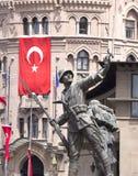 Statue turque de soldat Images stock