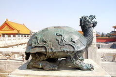Statue of turtle in Forbidden City(Beijing) Stock Image